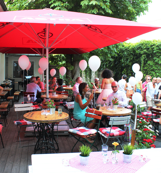 Terrasse in Dohle stolz